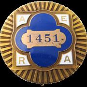 1915 AERA Convention San Francisco Enamel Badge
