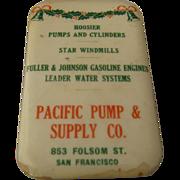 Ca 1900 Pacific Pump & Co SF Advertising Whetstone