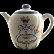 John B. Taylor Louisville Ceramics Teapot Milkmaid Sunflower Pattern