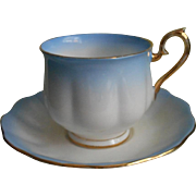 Royal Albert Rainbow Blue Ombre Cup Saucer Vintage TLC