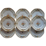 Bread Plates 1920s Altrohlau Diana Vintage China Czech Set 9