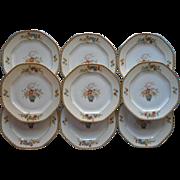 Bread Plates 1920s Altrohlau Diana Vintage China Czech Set 9