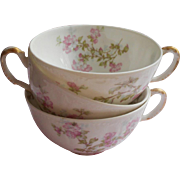Haviland Limoges China Cups Only Antique Pink Apple Blossom