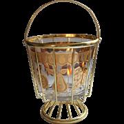 Culver Florentine Ice Bucket Cage Frame Vintage MCM Gold