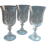 Mikasa French Countryside 3 Iced Tea Water Goblets