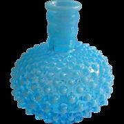 Fenton Lamp Base Opalescent Hobnail Turquoise Blue Vintage Glass