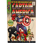 SOLD CAPTAIN AMERICA  100 Vintage Silver Age Classic Marvel Comic