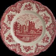 Pink Old Britain Castles Johnson Brothers England  Dinner Plate Vintage
