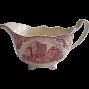 Pink Old Britain Castles Johnson Brothers England Creamer Vintage
