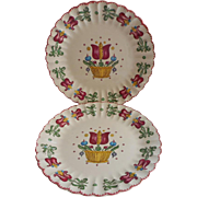 American Limoges Old Dutch China Vintage 2 Plates