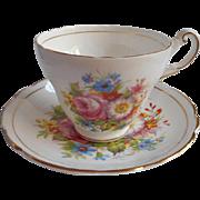Bone China Regency Corsage English Cup Saucer Vintage