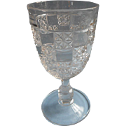 EAPG Goblet Milton Pattern Antique Pressed Glass