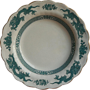 Booths Dragon Vintage China Soup Plate Bowl Blue Green