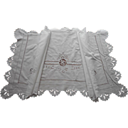 SOLD Italian Cutwork Vintage False Sheet Top Or Use As Valance Or Pillow Cover