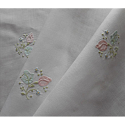 SOLD Madeira Tray Cloth Vintage Linen Pastel Embroidery Applique