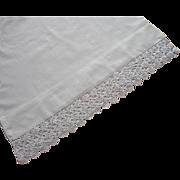 1920s Italian Wedding Pillow Case Single Crocheted Lace Unused