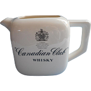 SOLD Whiskey Water Pitcher Canadian Club Vintage Barware China