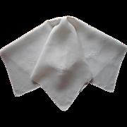 1920s Italian Work Linen Tea Tablecloth Rice Simple Handsome