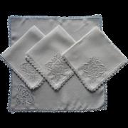 1920s Needle Lace Filet Napkins Vintage Linen TLC