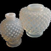 Fenton French Opalescent Hobnail Glass Vase Petite Rose Jar Form