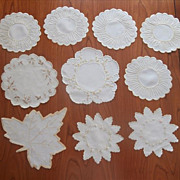Silk Embroidery Antique Linen Doilies Some Society Type