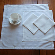 Monogram A B Antique 1910s 4 Napkins 3 Breakfast 1 Larger
