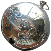 1975 Wallace Sleigh Bell Vintage Silver Christmas Ornament