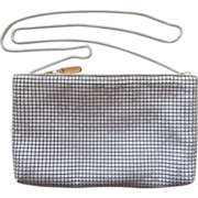 White Mesh Purse Vintage Late 1970s Early 1980s