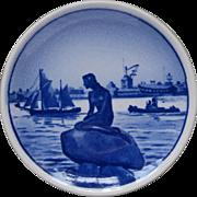 Langelinie Royal Copenhagen Aluminia Denmark Mini Plate Little Mermaid