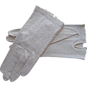 Deerskin Gloves Vintage Never Worn White Leather Size Small Van Raalte