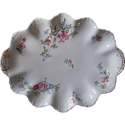 SOLD Haviland Limoges Scalloped Small Platter China Antique French Blue Pink