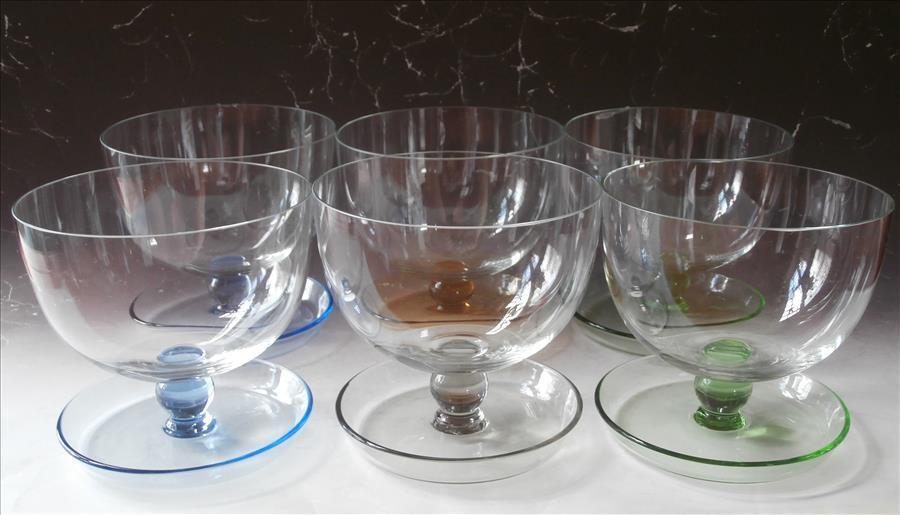 shrimp cocktail finger dessert bowl glasses vintage. Black Bedroom Furniture Sets. Home Design Ideas