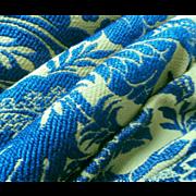 SOLD Bates Bedspread Vintage Avocado Green Blue Spanish Mediterranean Style
