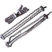 SOLD Set 3 Vintage Bracelets Chain Triple Strand Maybe For Charm