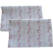 SOLD Pillow Protectors Vintage Pink Wallpaper Stripe For Feather Pillows