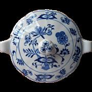 Blue Danube Individual Casserole w Lid Vintage Onion Ribbon Mark