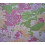 SOLD Wilendur Tablecloth Vintage Printed Pastel Floral w Label