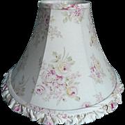 SOLD Shabby Chic Lampshade Fabric Blush Beauty Roses Rachel Ashwell