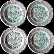 Singapore Bird 4 Bread Plates Vintage Adams Calyx Ware England