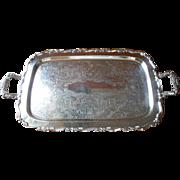 SOLD Silver Tray Handles Tea Set Serving Vintage Georgian Scroll Oneida
