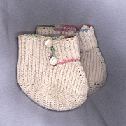 SOLD Vintage Crochet Doll Booties