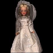 Vintage  Satin Wedding Dress and Veil