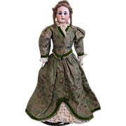 SOLD Antique Bisque Fashion Doll with Pierced Ears