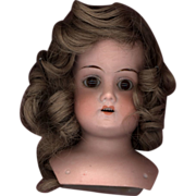 SOLD Antique Bisque Doll Head  Marked  Mabel