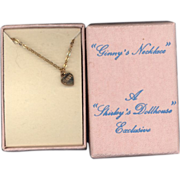 Vintage 1988 Ginny Heart Necklace in Original Box
