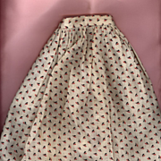 Antique Cotton Print Doll Skirt