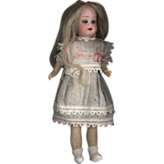 SOLD Antique Bisque Miniature  Schoenau and Hoffmeister  Girl All Original