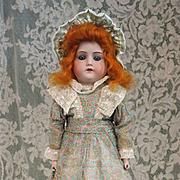 SALE Antique Bisque  Mabel  on Original Leatherette Body