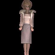 SOLD Vintage White Ginger Bubble Cut Barbie in Vintage Barbie Clothing