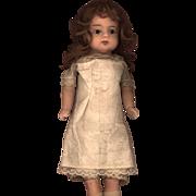 SOLD Antique Papier Mache Doll in Original Chemise